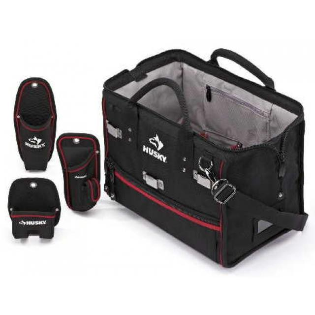 husky 16 in tool pouch bag tool bags. Black Bedroom Furniture Sets. Home Design Ideas