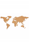 World map (cork, self-adhesive)