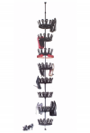 Shoe carousel for up to 48 pairs of shoes - Flexible + Space-saving Easy construction