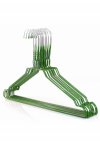 50 wire hangers galvanized with green plastic coating, approx. 40.2 cm grün