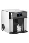Eiswürfel-Maschine: Eiswürfelmaschine & Wasserspender V2 mit XL-Display, Edelstahl-Gehäuse