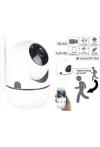 Überwachungscamera: WLAN-IP-Überwachungskamera mit Objekt-Tracking und App, Full HD, 360°