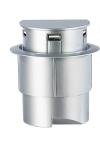 "USB Ladestation Einbau: Versenkbarerer 3-Port USB-Hub ""Sensor Glide"", Einbau Tisch-Kabeldose"